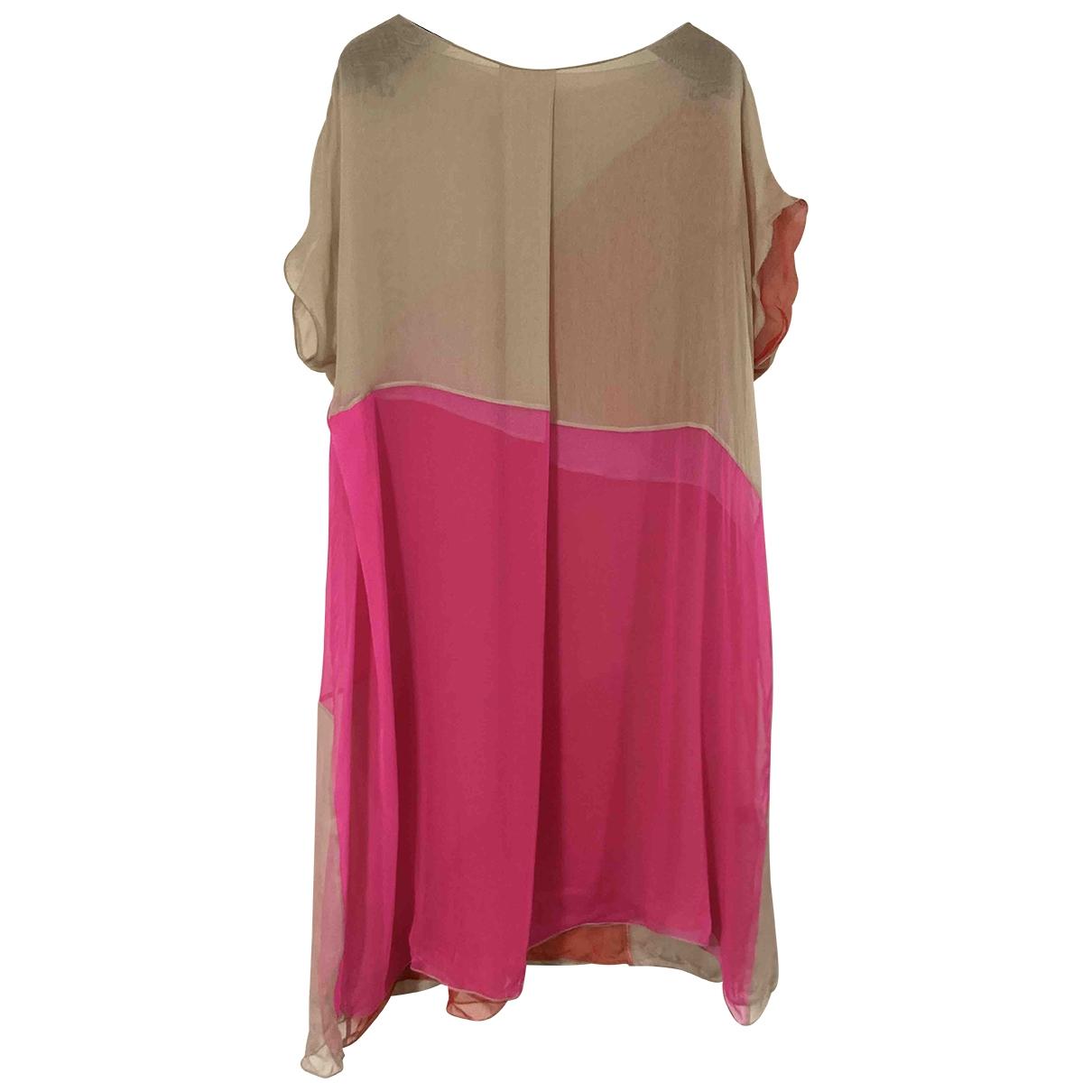 Bottega Veneta \N Multicolour Silk dress for Women 42 IT
