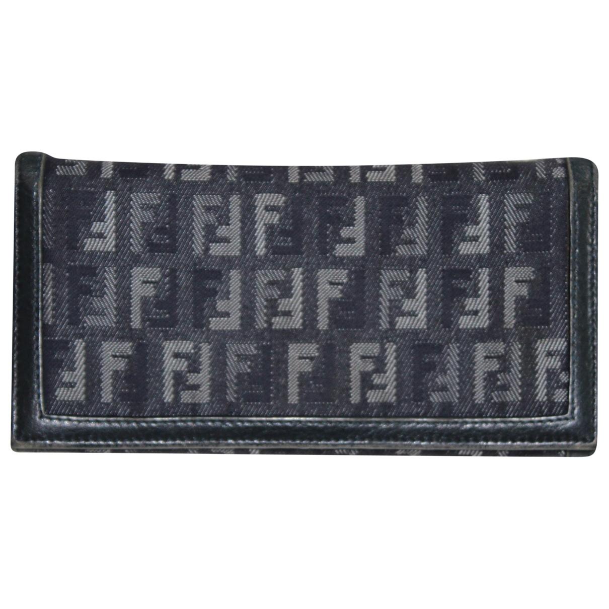 Fendi - Portefeuille   pour femme en denim - bleu