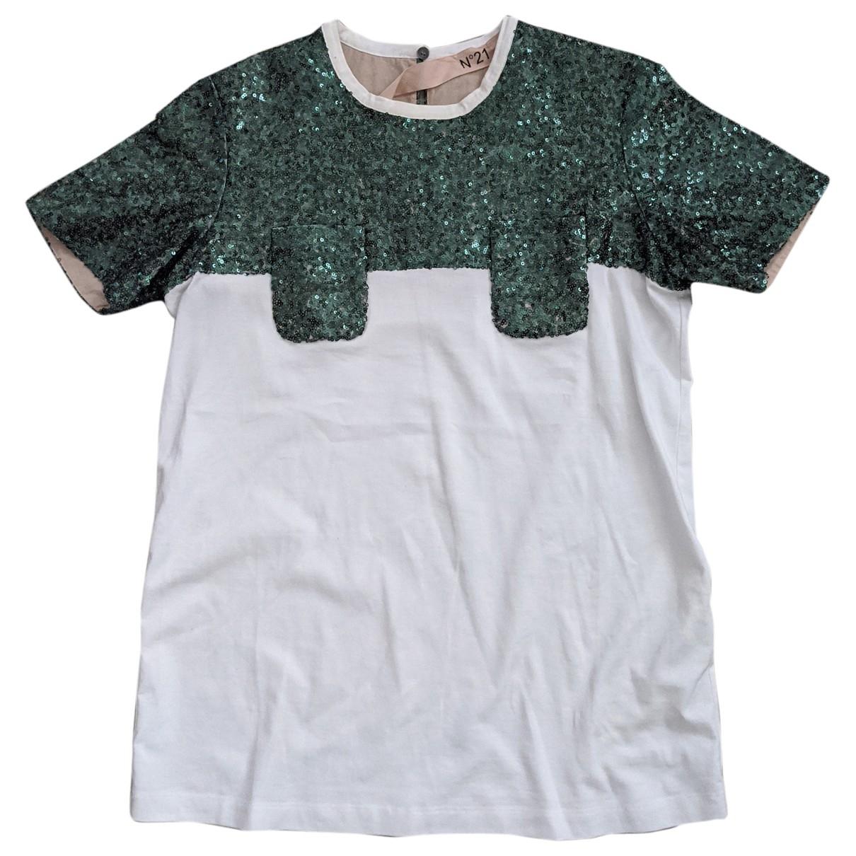 N°21 \N Green Cotton  top for Women 40 IT
