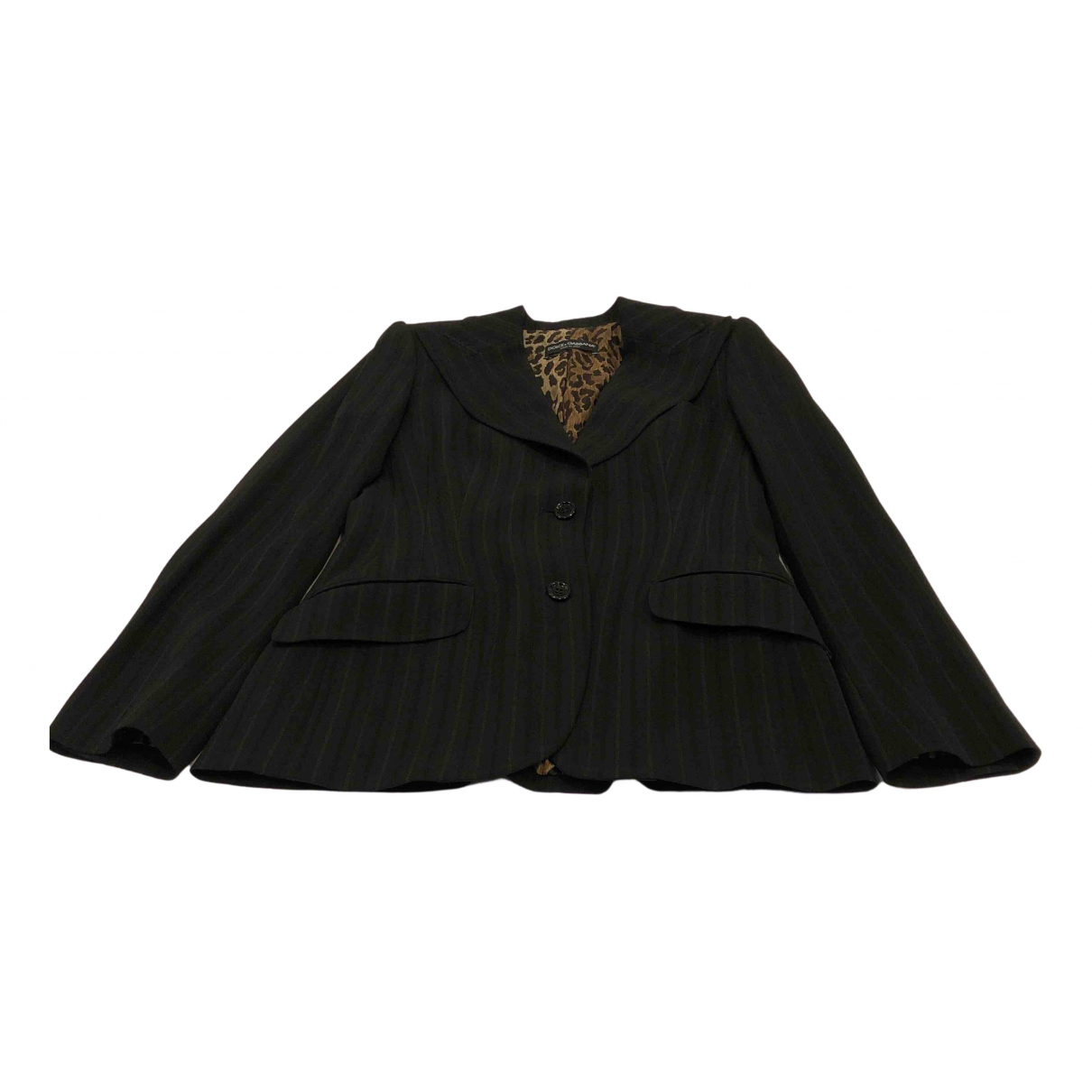Dolce & Gabbana N Black Wool jacket for Women 42 IT