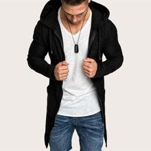 Guys Zip Up Drawstring Hooded Sweatshirt