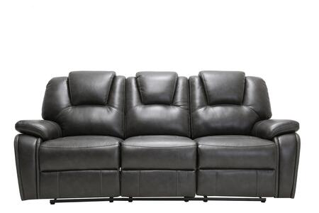 329707 40 Contemporary Gray Leather Power Reclining