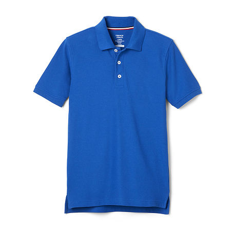French Toast Toddler Boys Short Sleeve Polo Shirt, 3t , Blue