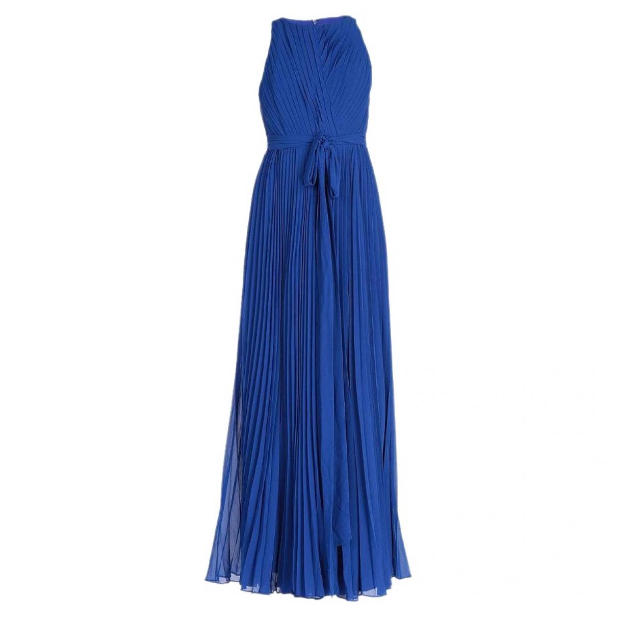 Badgley Mischka \N Kleid in  Blau Polyester
