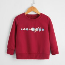 Sweatshirt mit Planet Muster