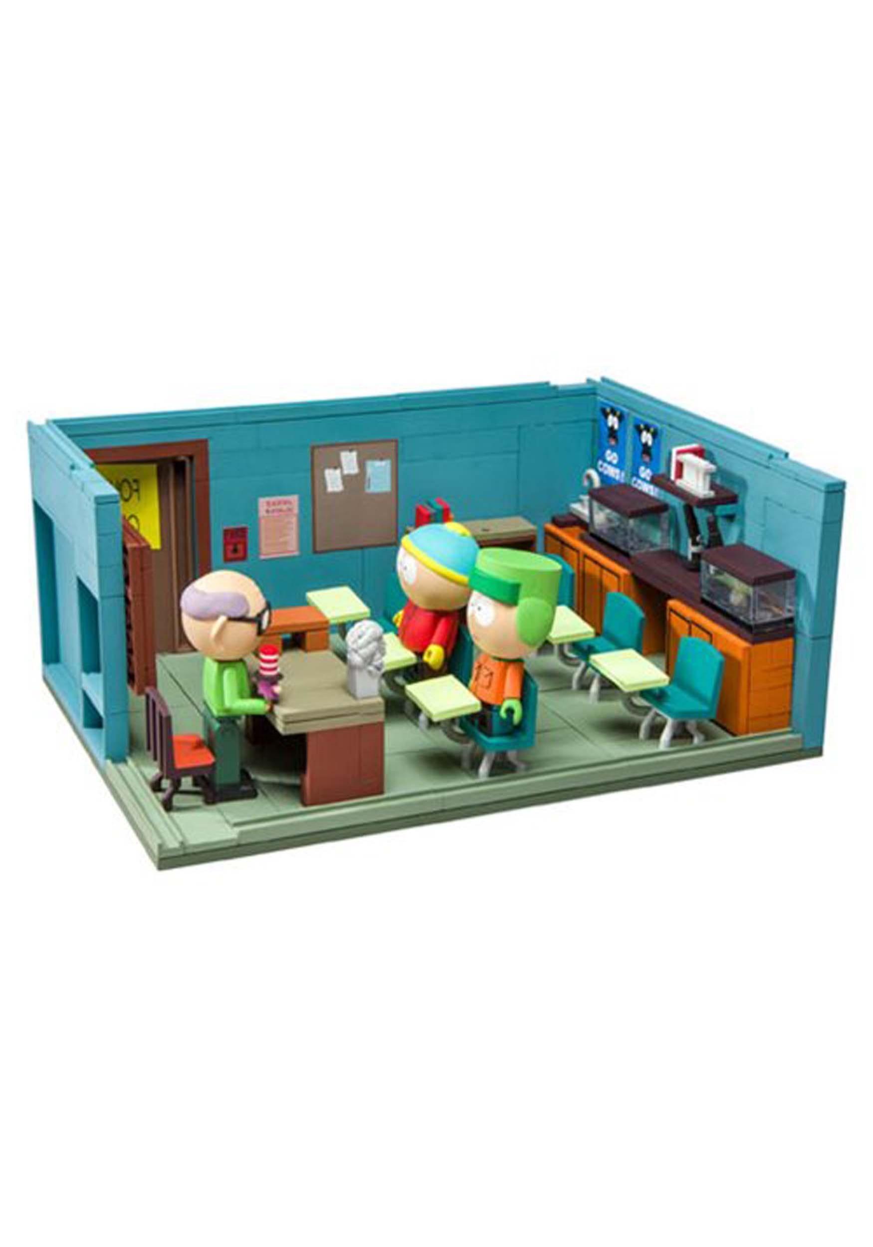 South Park Mr. Garrison Kyle and Cartman Classroom Construction Set
