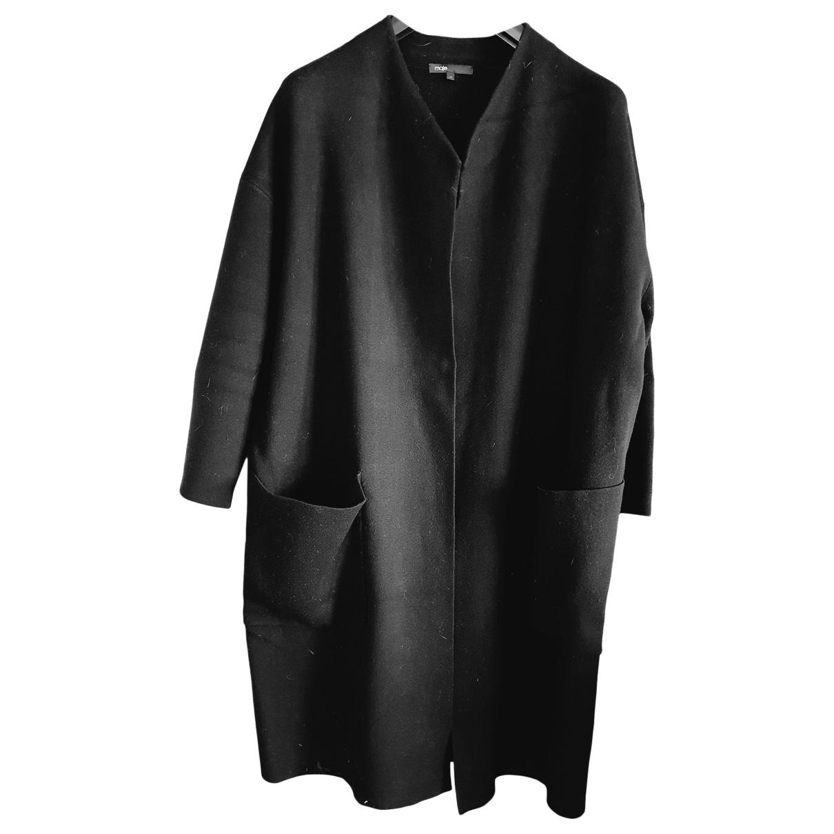 Maje \N Black Wool coat for Women One Size FR