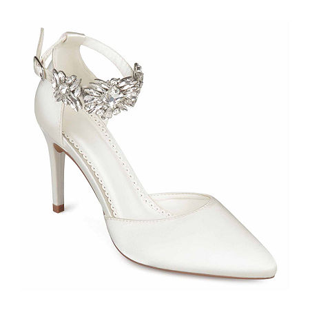 Journee Collection Womens Loxley Pumps Stiletto Heel, 5 1/2 Medium, White