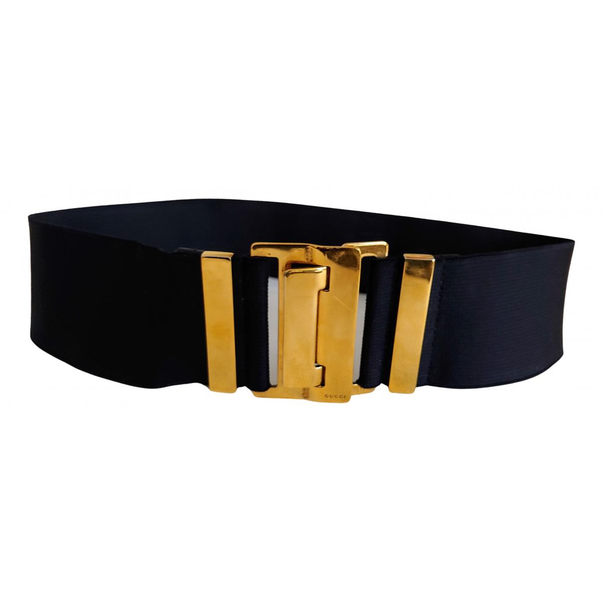 Gucci Interlocking Buckle Black belt for Women 70 cm