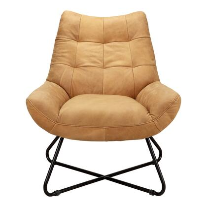 Graduate Collection PK-1063-40 Lounge Chair with Iron Frame in Brown