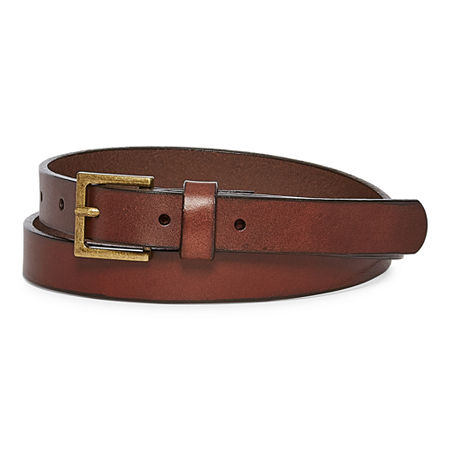 Mixit Leather Skinny Belt, Small , Brown