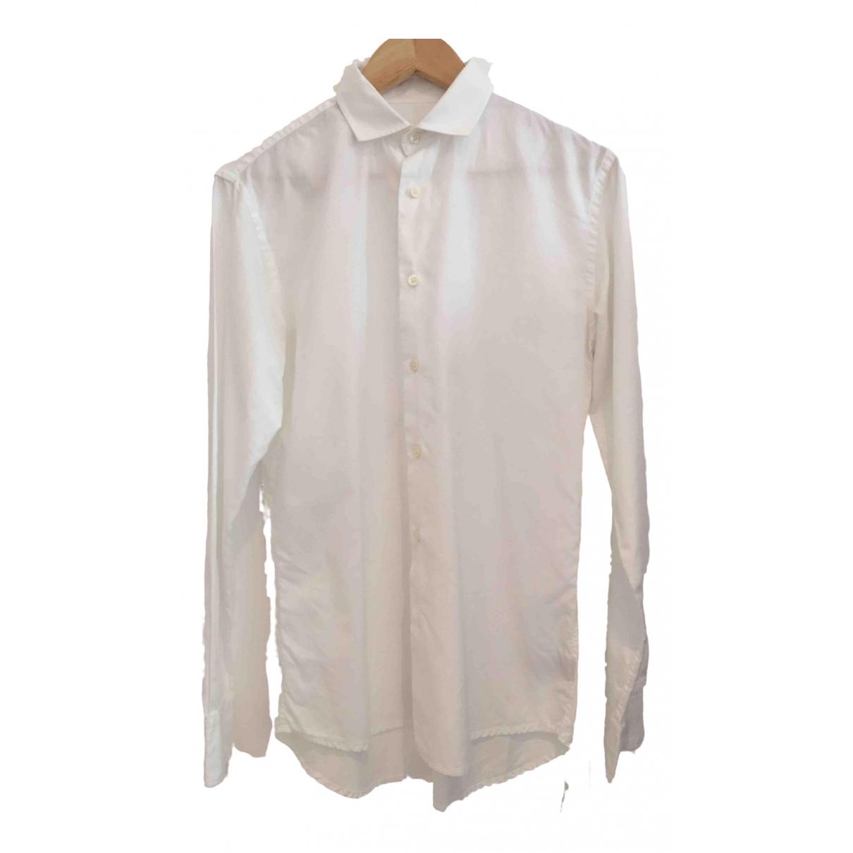 Bottega Veneta \N White Cotton Shirts for Men 38 EU (tour de cou / collar)