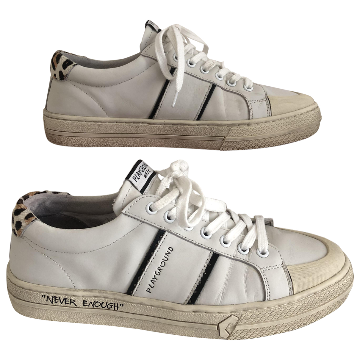 Moa Master Of Arts \N White Leather Trainers for Women 39 EU