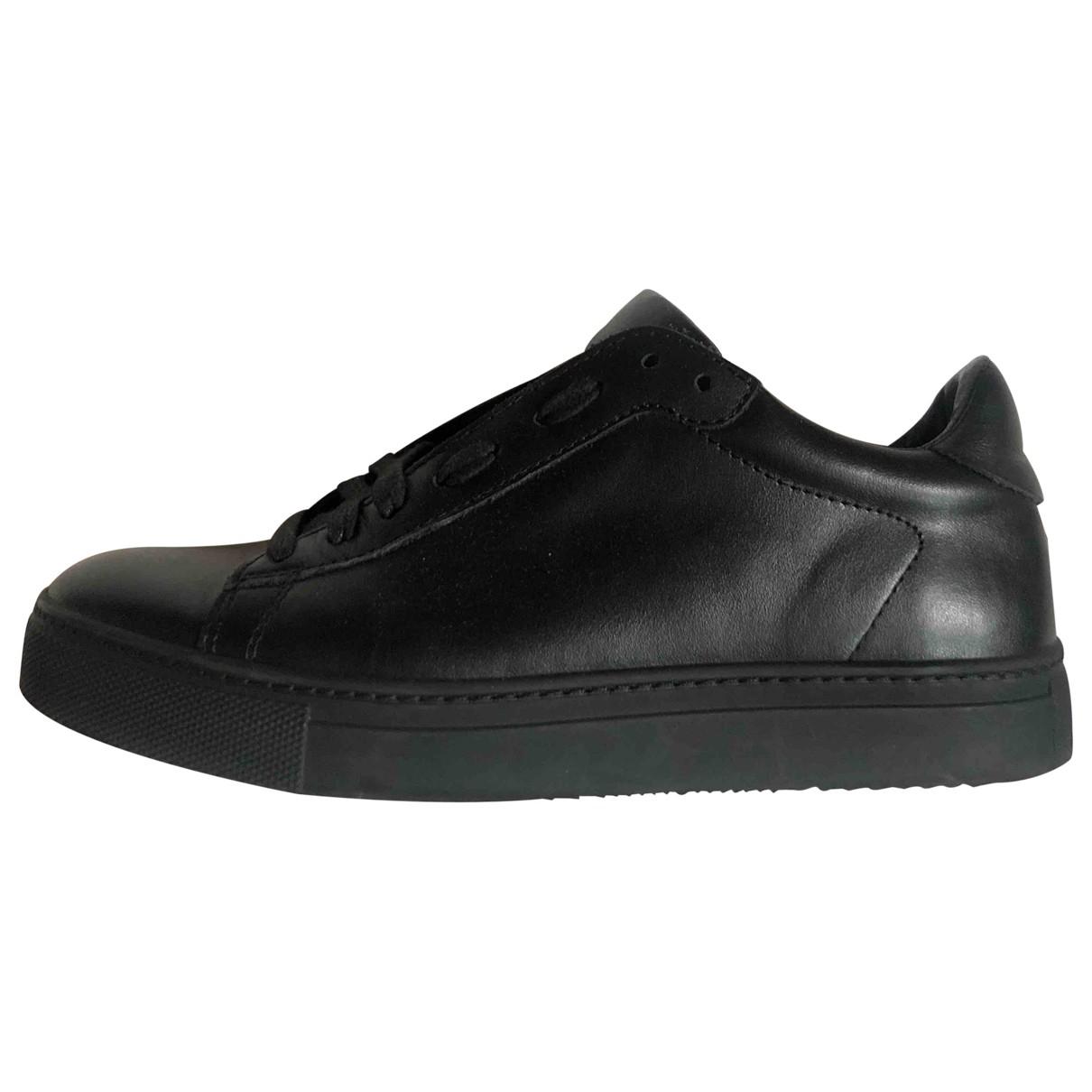 Stokton - Baskets   pour femme en cuir - noir