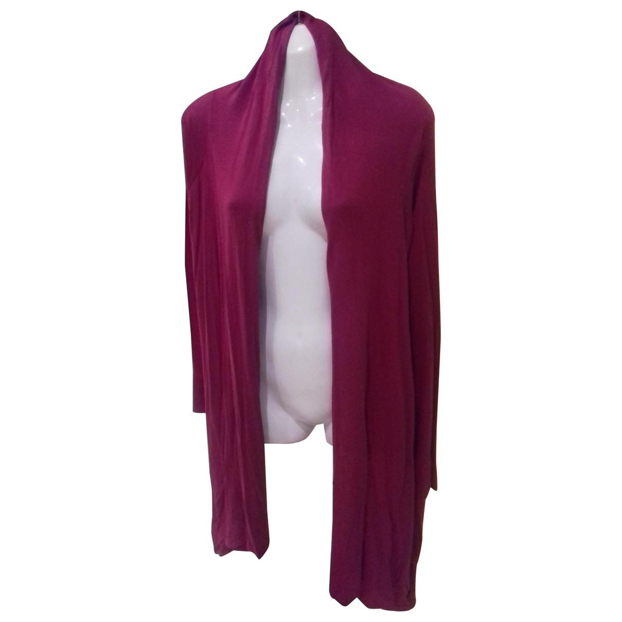 Bcbg Max Azria \N Pullover in  Bordeauxrot Seide