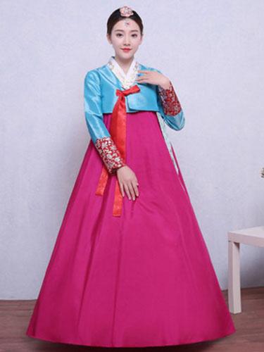 Milanoo Disfraz coreano de mujer Hanbok Disfraz asiatico de Halloween