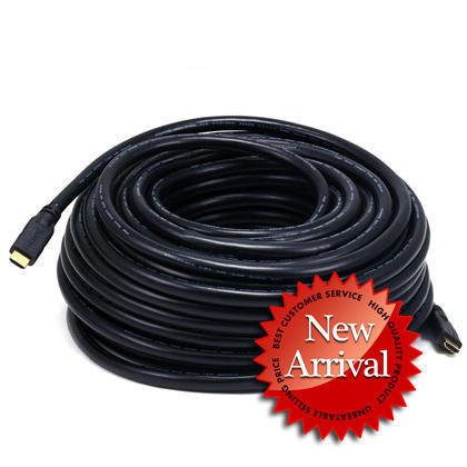 22AWG CL2 Standard HDMI® Cable With Ethernet - Black(7 Lengths available) - Monoprice® - 100ft