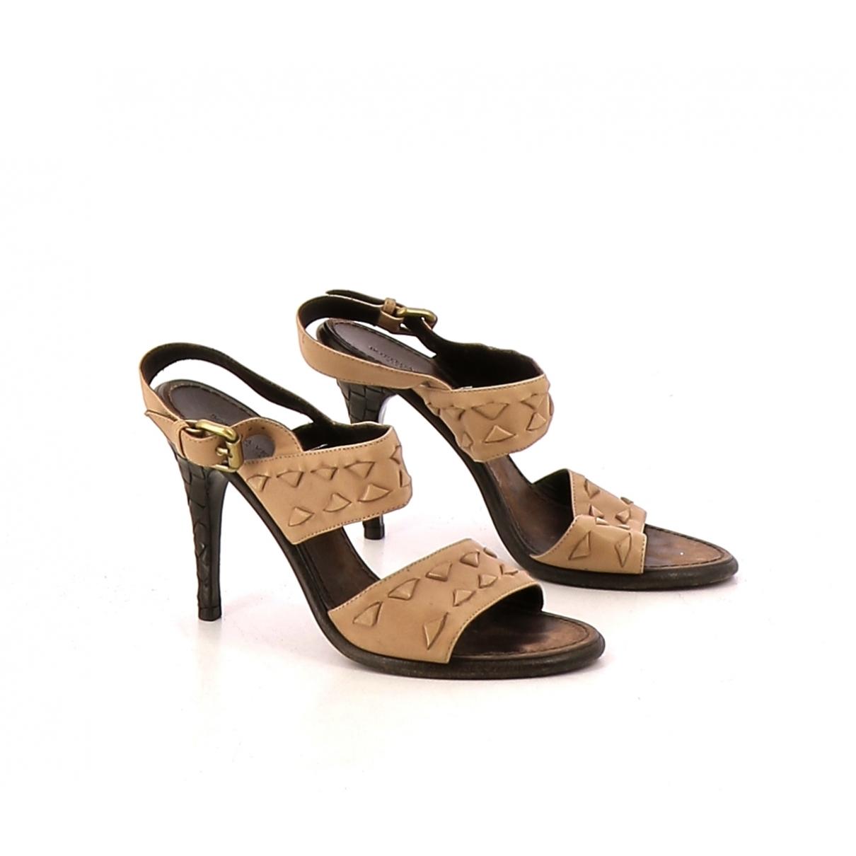 Bottega Veneta - Sandales   pour femme en cuir - beige