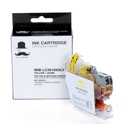 Compatible Brother LC3019 Yellow Ink Cartridge Extra High Yield - Moustache@