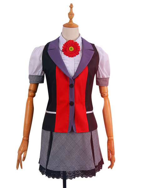 Milanoo Kakegurui Compulsive Gambler Yumemite Yumemi Halloween Cosplay Costume School Girl Uniform Manga Version