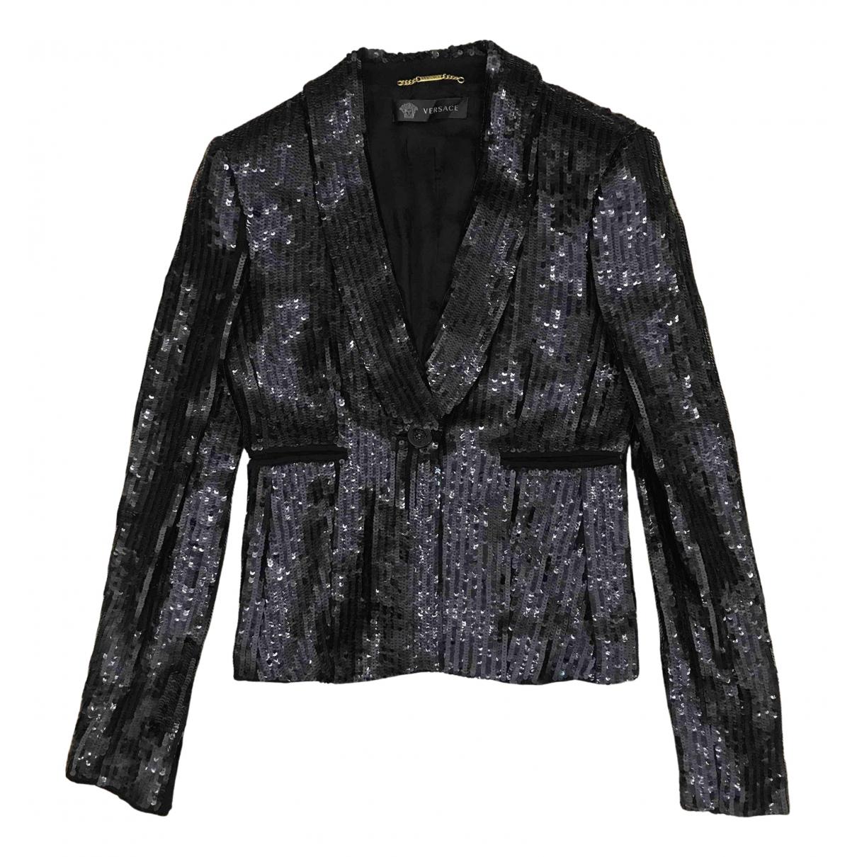 Versace \N Jacke in  Schwarz Mit Pailletten