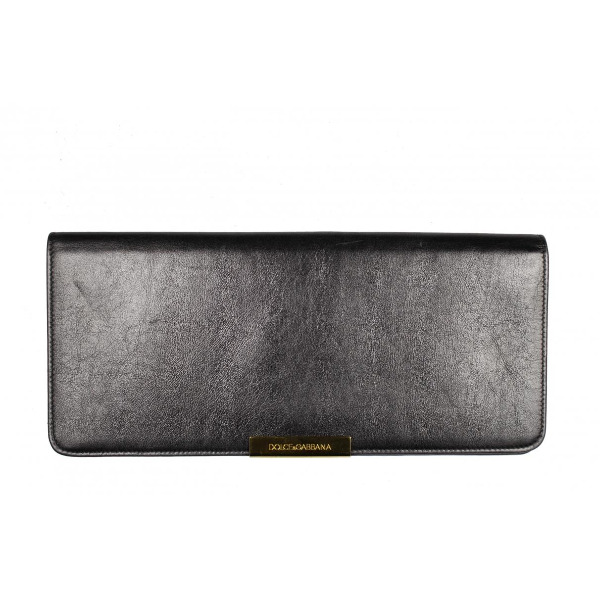 Dolce & Gabbana \N Clutch in  Schwarz Leder