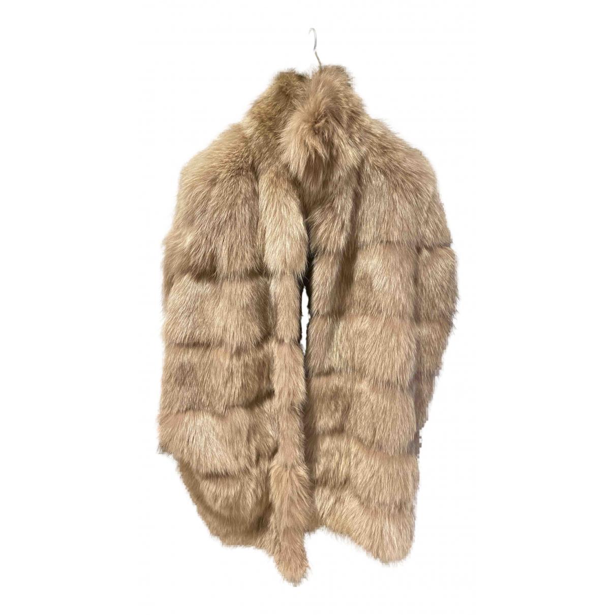 Blancha N Beige Fox jacket for Women 42 IT