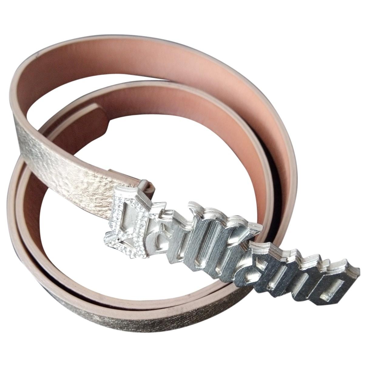 John Galliano \N Gold Leather belt for Women 85 cm