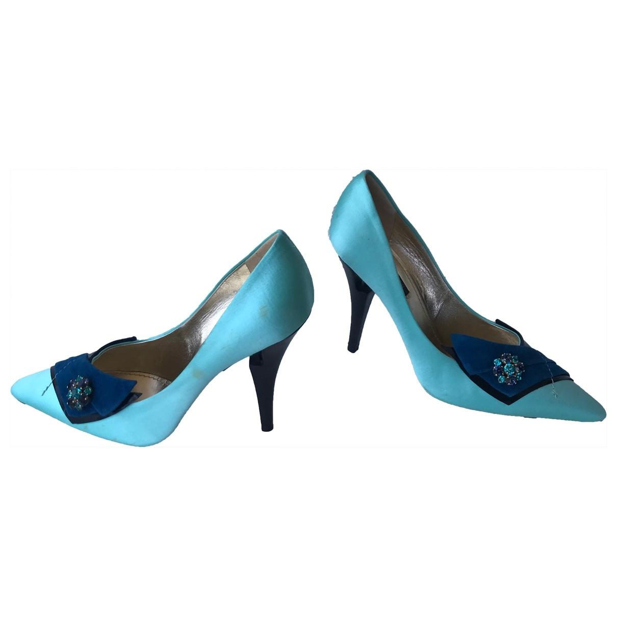 Louis Vuitton - Escarpins   pour femme en toile - turquoise