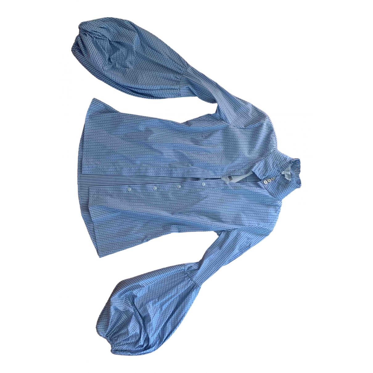 Caroline Constas - Top   pour femme en coton - bleu
