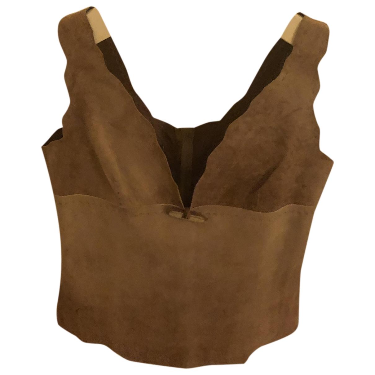 D&g \N Beige Suede Knitwear for Women 44 IT