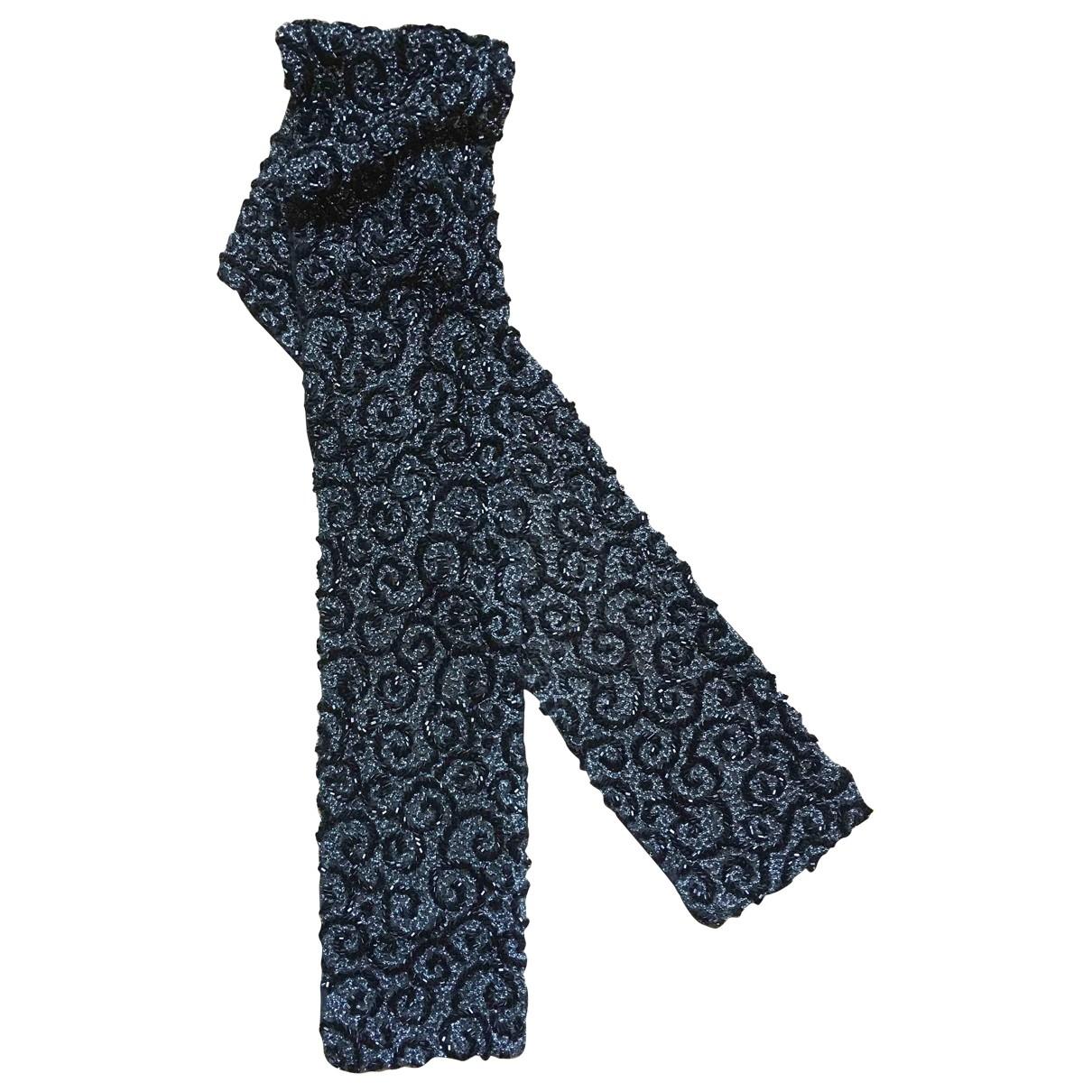 Non Signé / Unsigned \N Black Glitter belt for Women M International