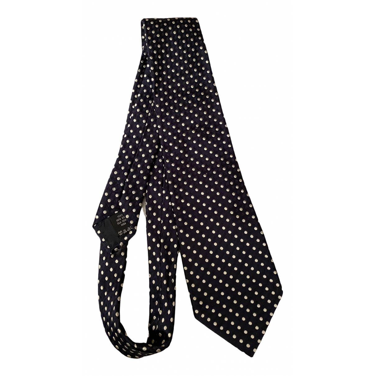 Valentino Garavani N Black Silk Ties for Men N