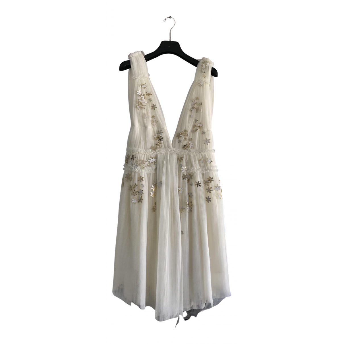 Jay Ahr \N Kleid in  Weiss Spitze