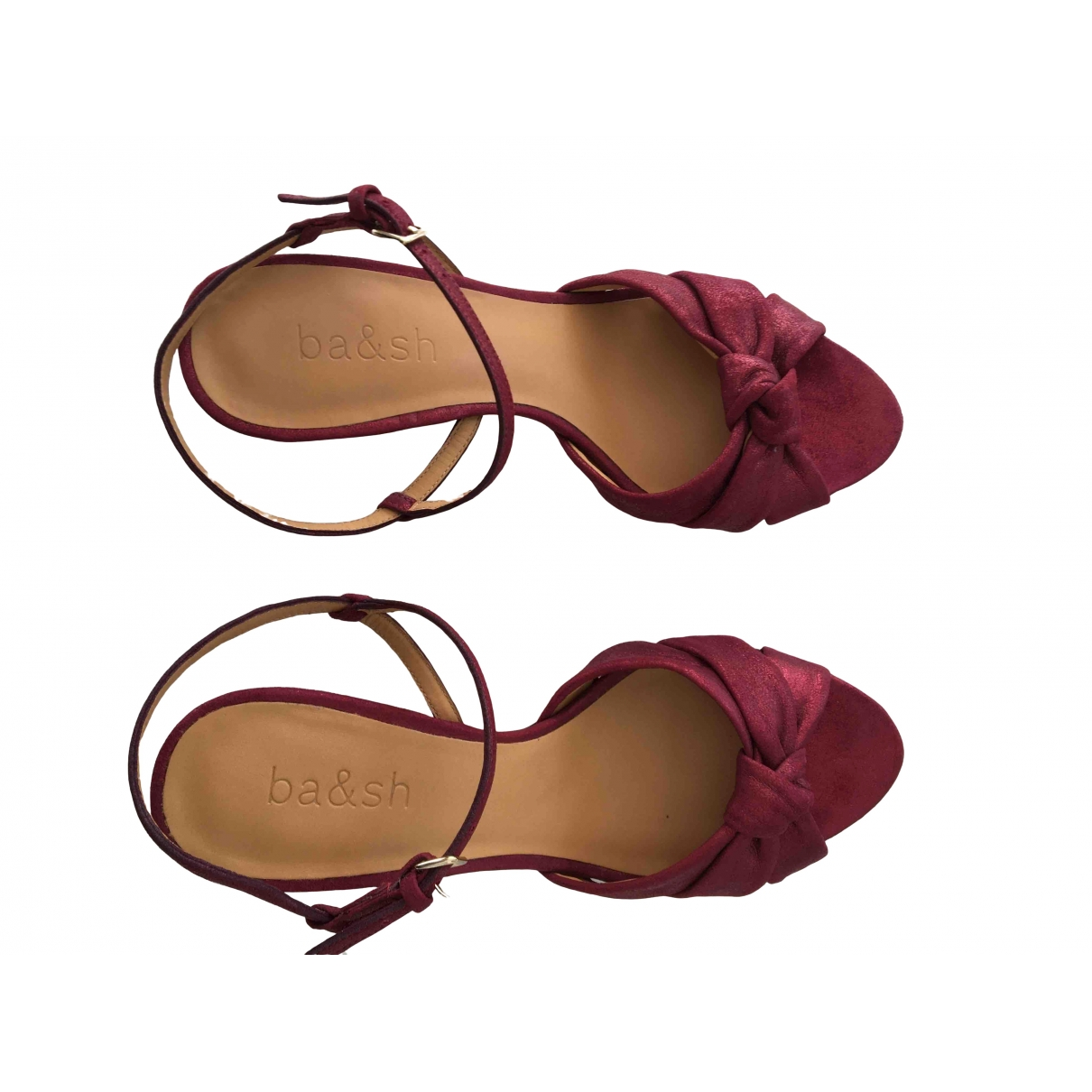 Ba&sh \N Red Leather Sandals for Women 38 EU