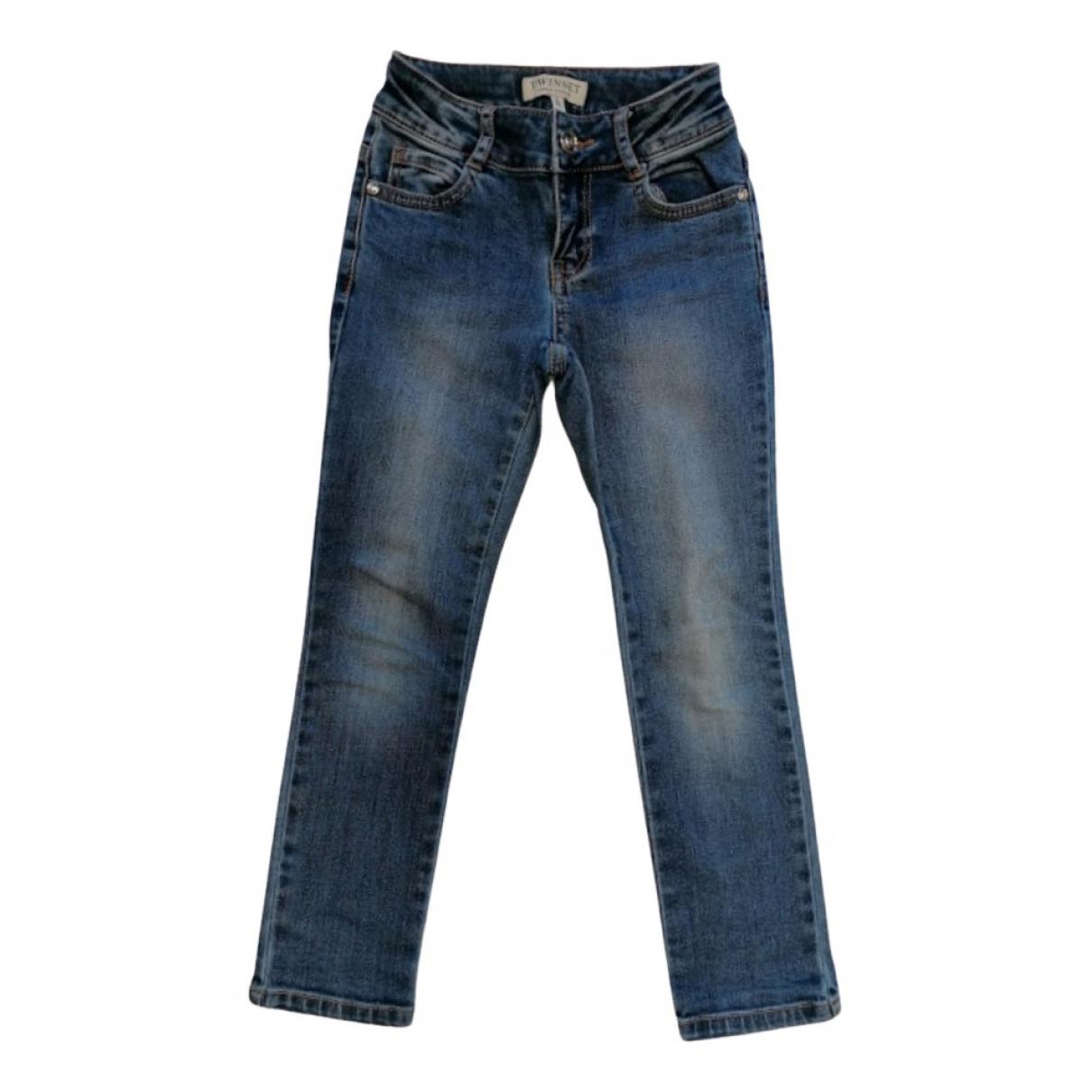 Twin Set - Pantalon   pour enfant en denim - bleu