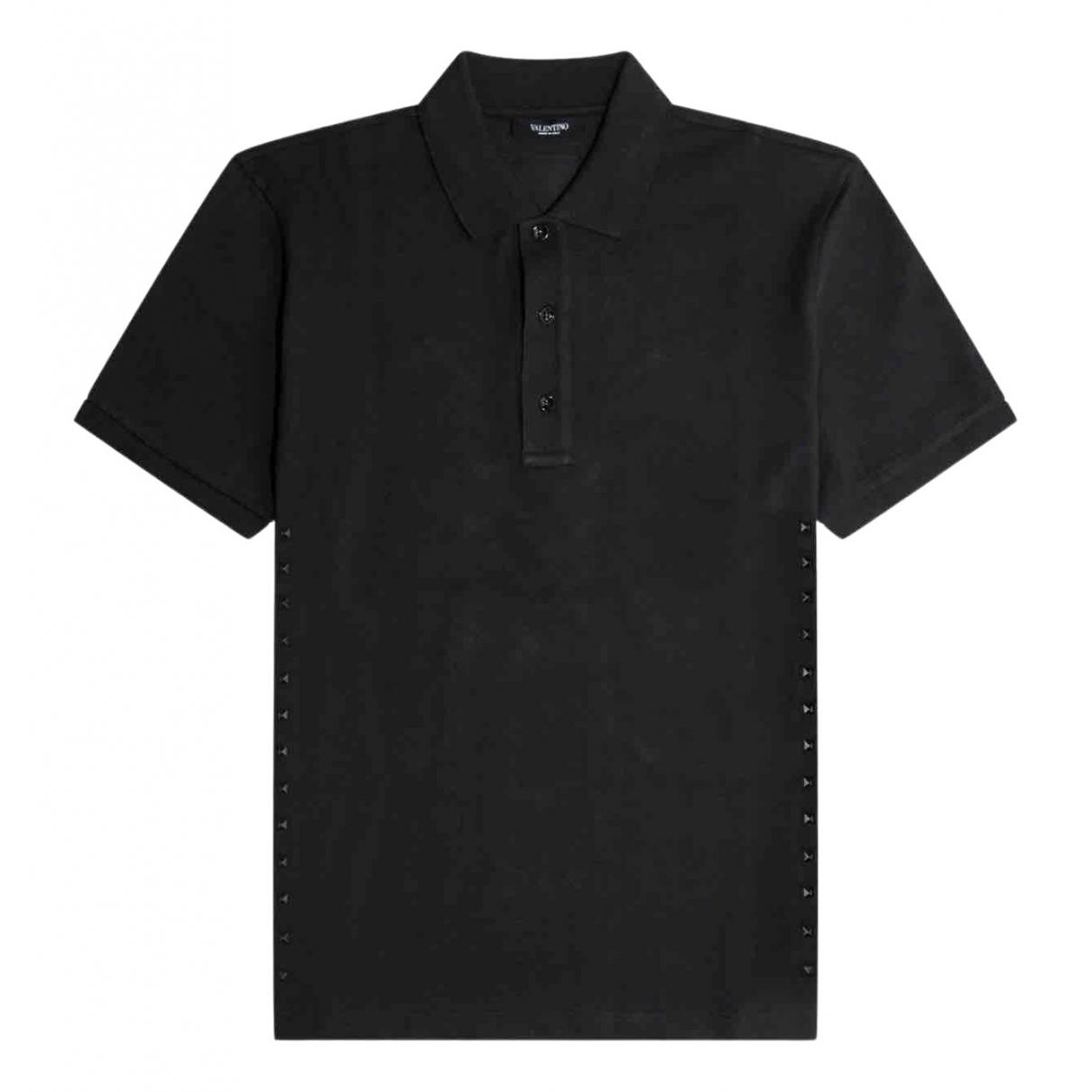 Valentino Garavani \N Black Cotton Polo shirts for Men L International