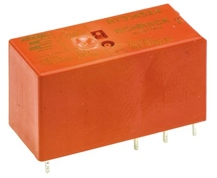 TE Connectivity , 24V Coil Non-Latching Relay SPDT, 16A Switching Current PCB Mount Single Pole