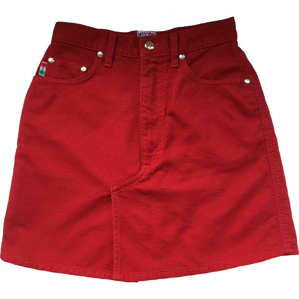 Moschino Love \N Red Cotton skirt for Women 36 FR