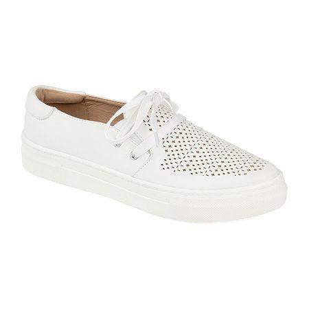 Journee Collection Womens Shantel Slip-On Shoe, 8 Medium, White
