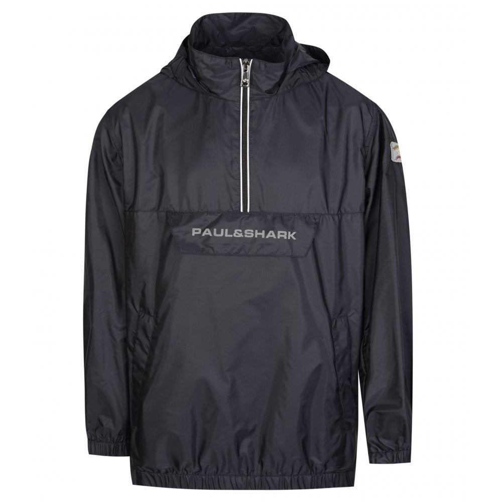 Paul & Shark Kids Reflective Logo Jacket Colour: BLACK, Size: 8 YEARS
