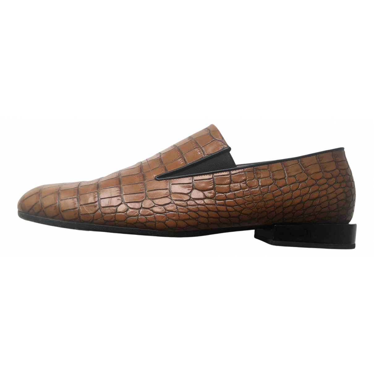 Dries Van Noten N Camel Leather Flats for Women 42 EU