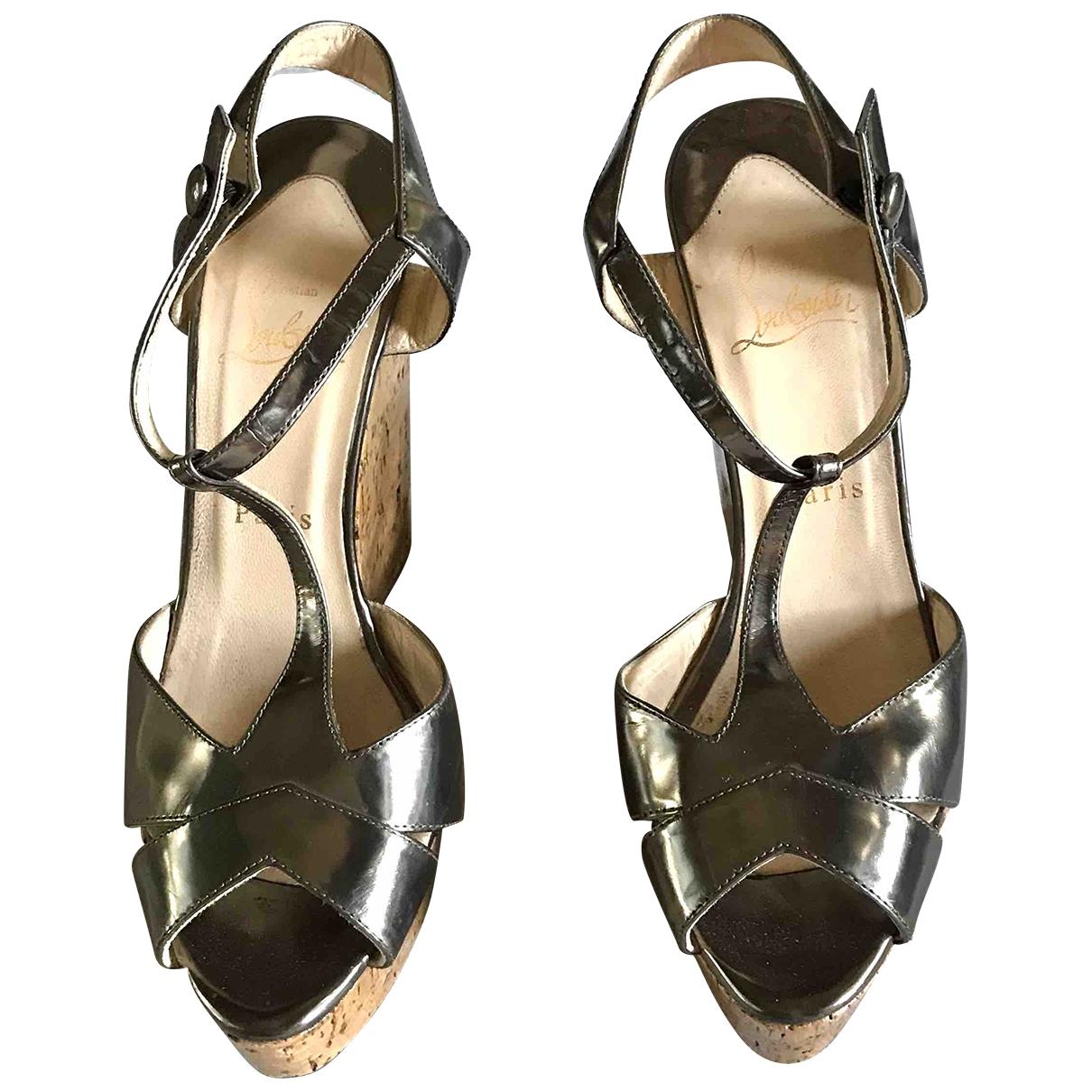 Christian Louboutin \N Silver Leather Sandals for Women 38 EU