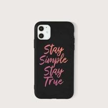 Funda de iphone con estampado de slogan
