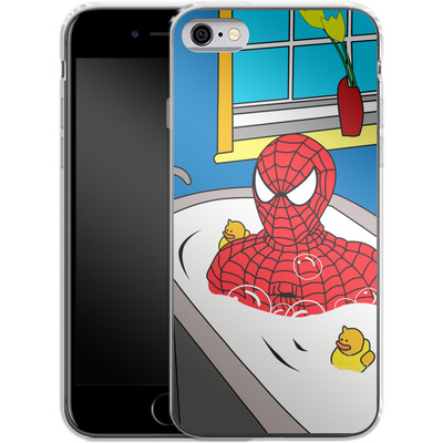 Apple iPhone 6 Silikon Handyhuelle - Bathing Hero von Mark Ashkenazi