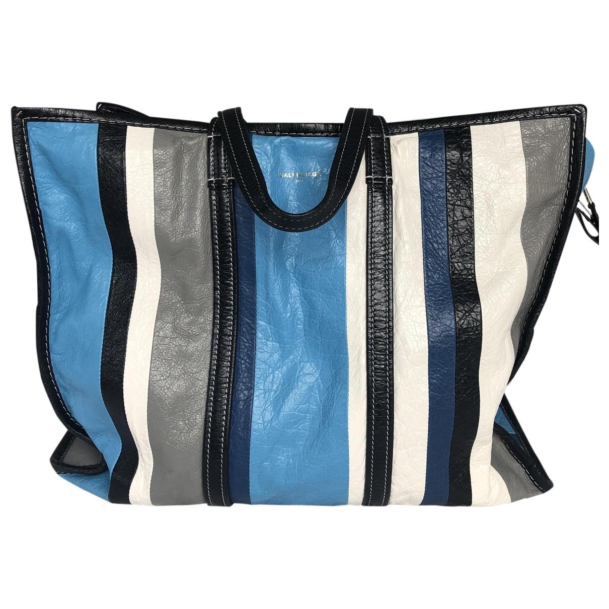 Balenciaga Bazar Bag Blue Leather Travel bag for Women \N