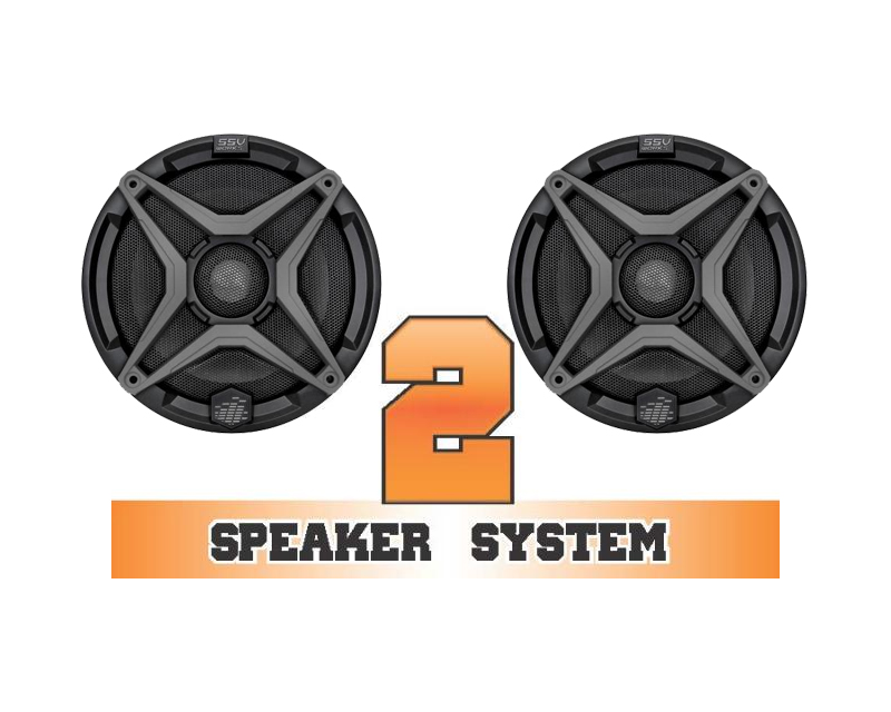 SSV Works RZR-2 Complete 2 Speaker System Polaris RZR 900 XC Edition 11-17