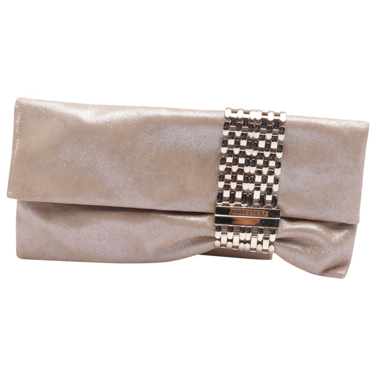 Jimmy Choo \N Beige Leather Clutch bag for Women \N