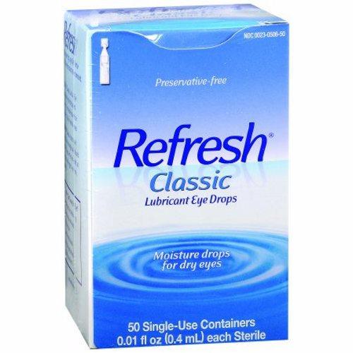Eye Lubricant Refresh Classic Eye Drops - 50 Count by Refresh