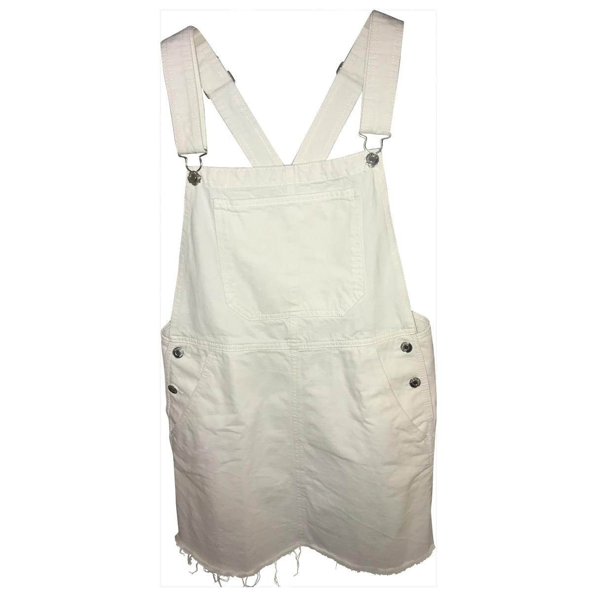 Non Signé / Unsigned \N White Denim - Jeans jumpsuit for Women 44 IT